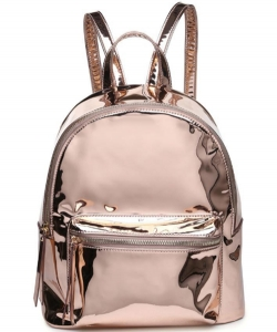 Backpack Mirror Metallic Vegan Leather 13609
