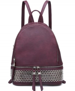 Boston Backpack Marbled Vegan Leather 13614