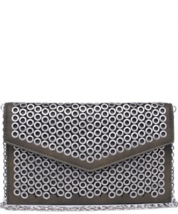 Ozzy Embellished Vegan Leather Clutch 14515