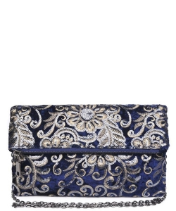 Rhapsody Clutch Embroidered Velvet 15360