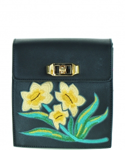 Fashion flower Clutch Satchel LF17719