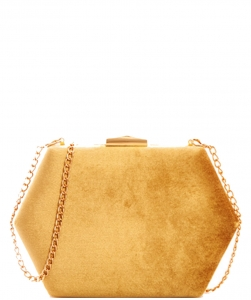 Fashion Chic Soft Hexagonal Clutch Chain CLW9455