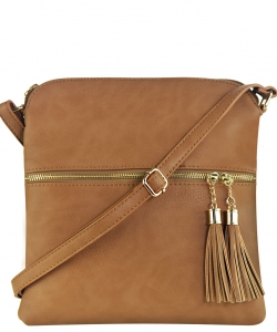 Tassel Accent Messenger Bag LP062 STONE