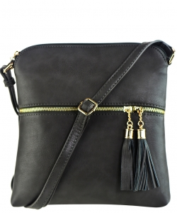 Tassel Accent Messenger Bag LP062 CHGY