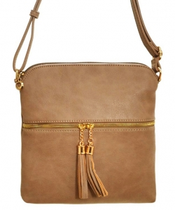 Tassel Accent Messenger Bag LP062 DBRICK