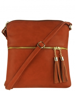 Tassel Accent Messenger Bag LP062 DTAN