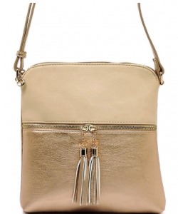 Tassel Accent Messenger Bag LP062 NUDE/ROSE