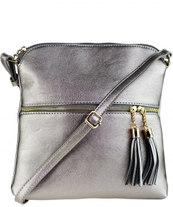 Tassel Accent Messenger Bag LP062 PEWTER