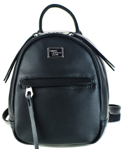 David Jones Faux Leather MINI Backpack CM3391B BLACK