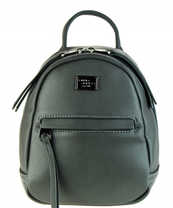 David Jones Faux Leather MINI Backpack CM3391B GRAY