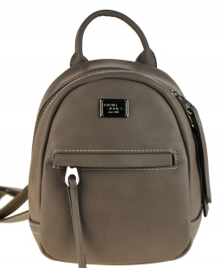 David Jones Faux Leather MINI Backpack CM3391B KHAKI