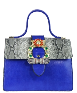 Elegant Modern Colored Fashion Handbag A81034 BLUE