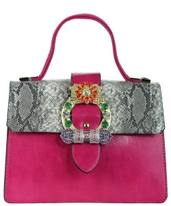 Elegant Modern Colored Fashion Handbag A81034 RED