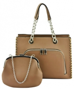 Designer 2 IN 1 Handbag Set SH208 COFEE