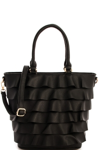 2 IN1 Cute Tote Handbag With Long Strap SJ-910 BLACK
