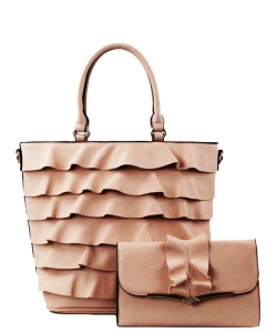 2 IN1 Cute Tote Handbag With Long Strap SJ-910 BLUSH