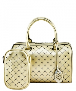 Trendy 2 In One Wholesale Fashion Handbag Set SM600 CHAMPAGNE