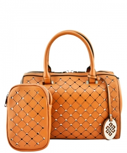 Trendy 2 In One Wholesale Fashion Handbag Set SM600 TAN