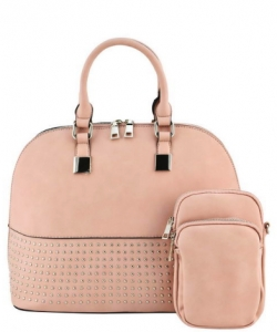 Designer 2 IN 1 Studded Tote Bag GY501 BLUSH
