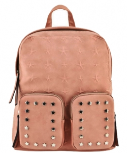 Designer Star Studded Backpack ST510 BLUSH