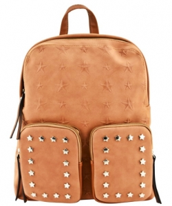 Designer Star Studded Backpack ST510 TAN