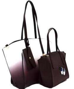3 in 1 Shopper Tote SET EJ1294 COFFE