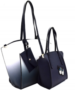 3 in 1 Shopper Tote SET EJ1294 NAVY
