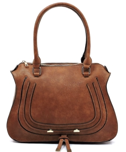 Designer Inspired Handbag 62749 BROWN