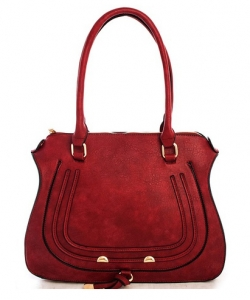 Designer Inspired Handbag 62749 WINE