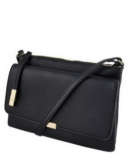 2 Compartments Messager Bag Designer LP052 BLACK