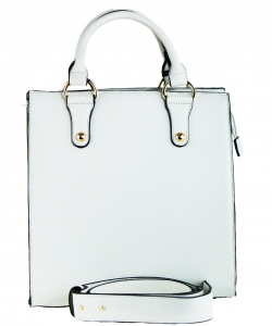 Fashion Tote Handbag Designer L0846 WHITE