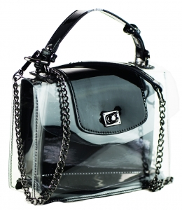 2 in 1 One Mini shoulder bag, One small zipper bag ES2225 BLACK