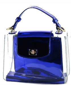 2 in 1 One Mini shoulder bag, One small zipper bag ES2225 NAVY