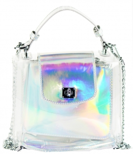 2 in 1 One Mini shoulder bag, One small zipper bag ES2225 SILVER