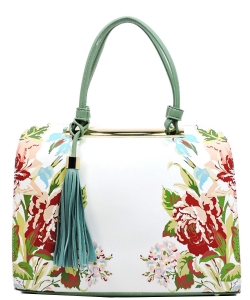 Flower Printed Day Satchel ES1557 MINT