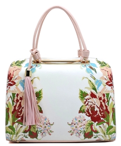Flower Printed Day Satchel ES1557 PINK