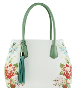 Flower Printed Day Satchel ES1559 MINT
