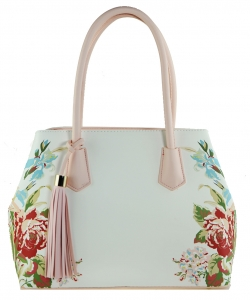 Flower Printed Day Satchel ES1559 PINK