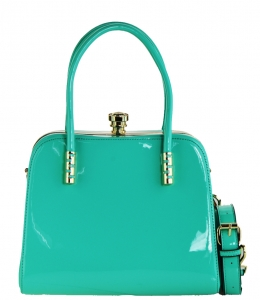 Fashion Women Bags Shoulder Bag Patent Leather Totes Crossbody Handbags L0761 GREEN