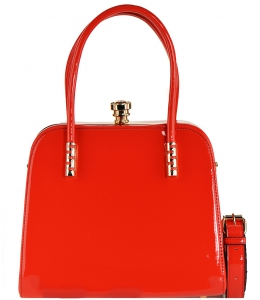 Fashion Women Bags Shoulder Bag Patent Leather Totes Crossbody Handbags L0761 RED