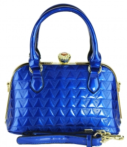Fashion Mini Women Bags Shoulder Bag Patent Leather Totes Crossbody Handbags N0369 BLUE