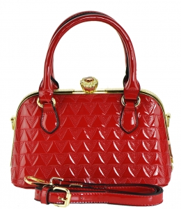 Fashion Mini Women Bags Shoulder Bag Patent Leather Totes Crossbody Handbags N0369 RED