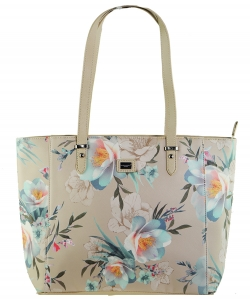 David Jones Flower Tote handbag 57333 BIEGE
