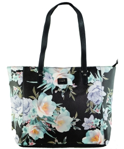 David Jones Flower Tote handbag 57333 BLACK