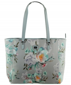 David Jones Flower Tote handbag 57333 LGRAY