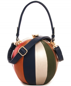 Fashion Ball Color Block  Handbag LW2038 NAVY