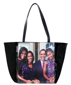 Large Tote Womens Magazine Purse Handbag A81053 BLACK