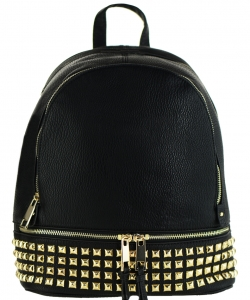Trendy Wholesale Fashion Back Pack with studs LS1239A BLACK