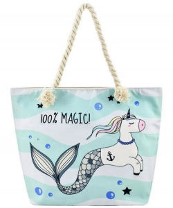 Designer Mermaid Canvas Tote Bag FC00634