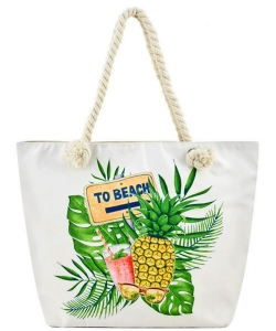 Designer Summer Pineapple Canvas Tote Bag FC00642